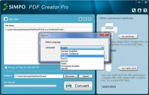 Enlarge Simpo PDF Creator Screenshot