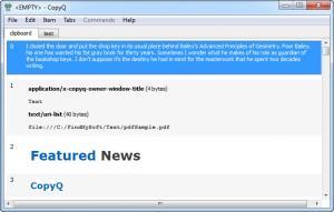 Enlarge CopyQ Screenshot