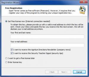 Enlarge Agnitum Spam Terrier Screenshot