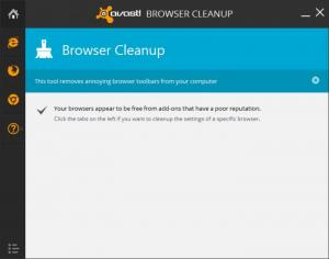 Enlarge Avast Browser Cleanup Screenshot
