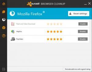 Enlarge Avast Browser Cleanup Screenshot