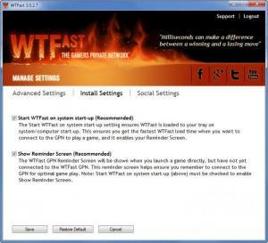 Enlarge WTFast Screenshot