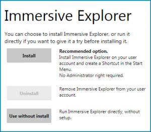 Enlarge Immersive Explorer Screenshot