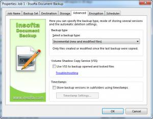 Enlarge Document Backup Screenshot