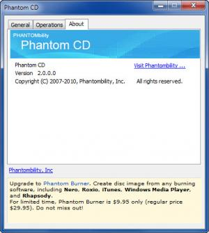 Enlarge Phantom CD Screenshot