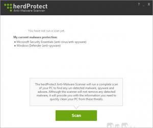 Enlarge herdProtect Anti-Malware Scanner Screenshot