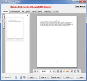 Enlarge ReaSoft PDF Printer Screenshot
