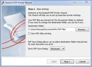 Enlarge ReaSoft PDF Printer Screenshot
