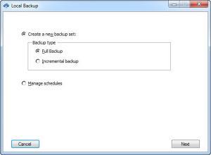 Enlarge Malwarebytes Secure Backup Screenshot
