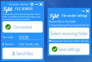 Enlarge Fylet File Sender Screenshot