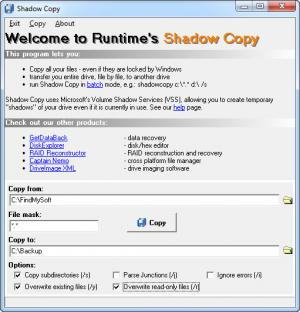 Enlarge ShadowCopy Screenshot