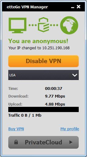 Enlarge etteGo VPN Manager Screenshot