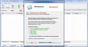 Enlarge SitePopularity Screenshot