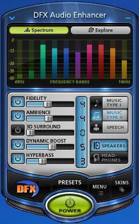 Enlarge DFX Audio Enhancer Screenshot