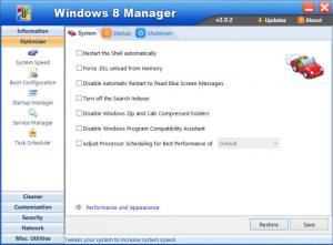 Enlarge Windows 8 Manager Screenshot