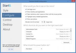 Enlarge Start8 Screenshot