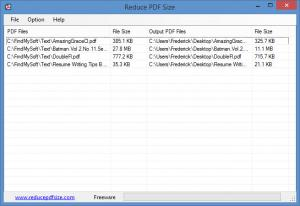 Enlarge Reduce PDF Size Screenshot