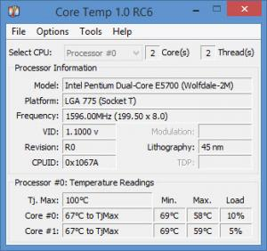 Enlarge Core Temp Screenshot