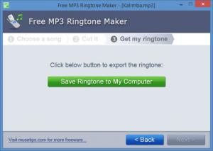 Enlarge Free MP3 Ringtone Maker Screenshot