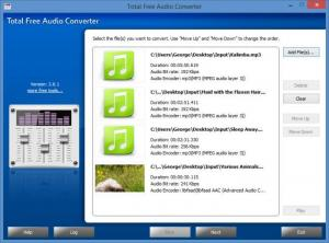 Enlarge Total Free Audio Converter Screenshot