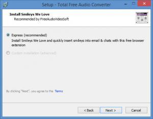 Enlarge Total Free Audio Converter Screenshot