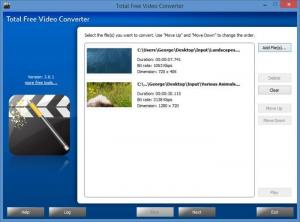 Enlarge Total Free Video Converter Screenshot
