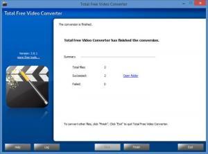Enlarge Total Free Video Converter Screenshot
