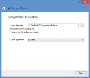 Enlarge MEO Encryption Software Screenshot