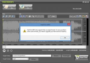 Enlarge FreeTrim MP3 Screenshot