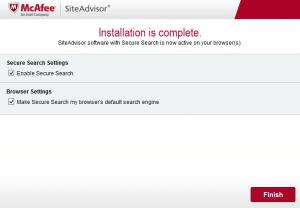 Enlarge McAfee SiteAdvisor Screenshot