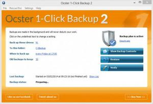 Enlarge Ocster 1-Click Backup Screenshot
