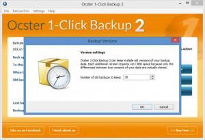 Enlarge Ocster 1-Click Backup Screenshot