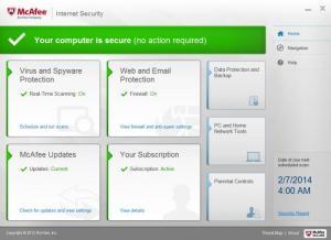 Enlarge McAfee Internet Security Screenshot