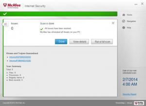 Enlarge McAfee Internet Security Screenshot