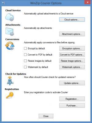 Enlarge WinZip Courier Screenshot