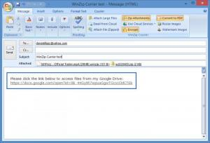 Enlarge WinZip Courier Screenshot