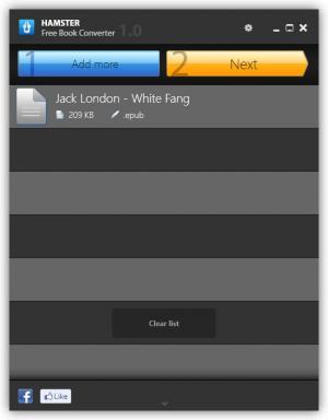 Enlarge Hamster eBook Converter Screenshot