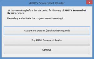Enlarge ABBYY Screenshot Reader Screenshot