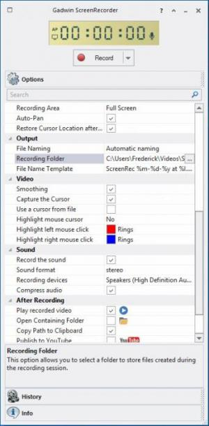Enlarge Gadwin ScreenRecorder Screenshot