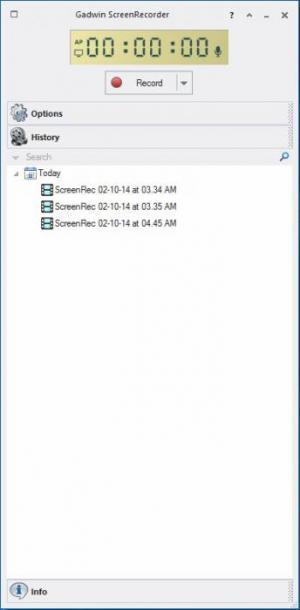 Enlarge Gadwin ScreenRecorder Screenshot