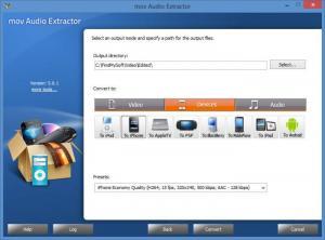 Enlarge mov Audio Extractor Screenshot