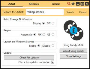 Enlarge Song Buddy Screenshot