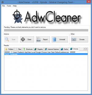 Enlarge AdwCleaner Screenshot
