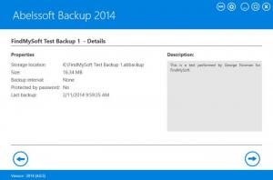 Enlarge Abelssoft Backup Screenshot