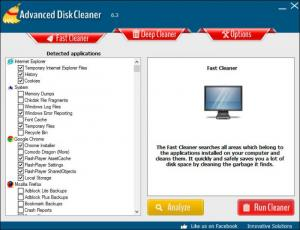 Enlarge Advanced Disk Cleaner Screenshot