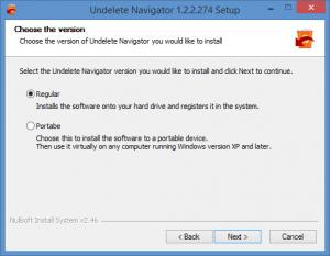 Enlarge Undelete Navigator Screenshot