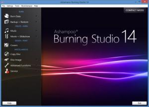 Enlarge Ashampoo Burning Studio Screenshot