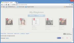 Enlarge Audiko Ringtones Manager Screenshot