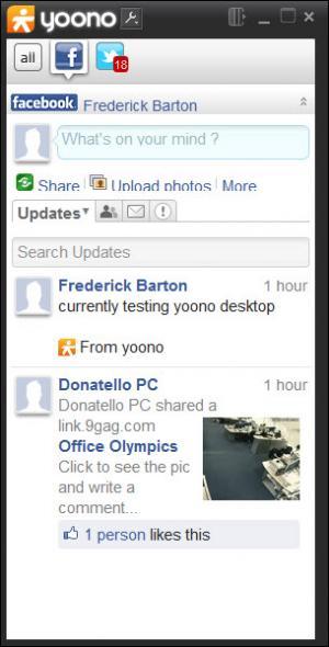 Enlarge Yoono Desktop Screenshot
