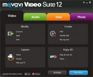 Enlarge Movavi Video Suite Screenshot
